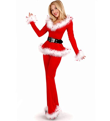 Mrs Santa Claus,Sexy Christmas Costumes Red Fur