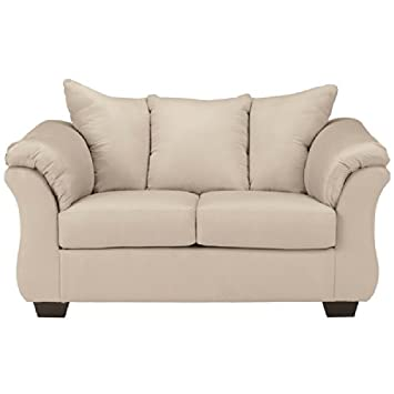 Dora Loveseat in Stone Fabric