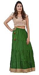 Carrol Long Skirt-Green