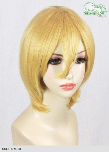 スキップウィッグ 魅せる シャープ 小顔に特化したコスプレアレンジウィッグ マシュマロショート ダークゴールド