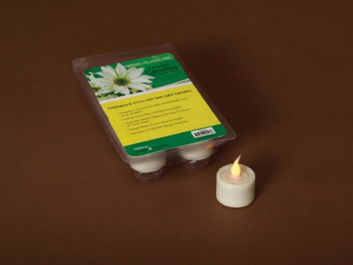 Pack Of 6 White Flameless Led Lighted Flicker Flame Tea Light Candles With Timer