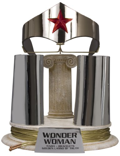 DC Direct JLA Trophy Room: Wonder Woman Tiara, Bracelets and Lasso Prop Replica