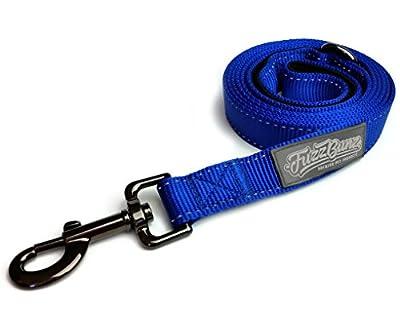 High-Quality Nylon Dog Leash - 6-ft Long - Soft Padded Handle - Reflective Stitching for Night Time Safety & Visibility - 100% Money Back Guarantee