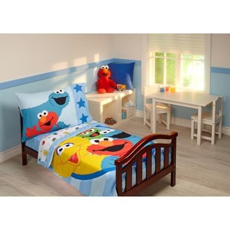 Sesame Street Furry Friends 4-Piece Toddler Bedding Set