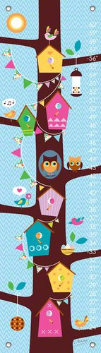 Oopsy Daisy Branches and Birds by Clare Birtwistle Growth Charts, 12 by 42-Inch