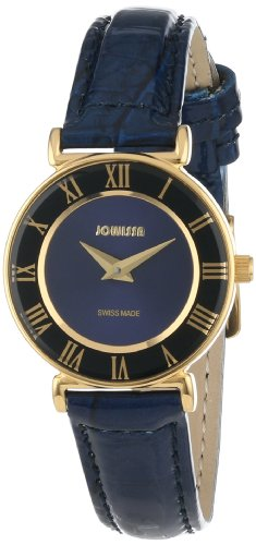 Jowissa Women's J2.041.S Roma Gold PVD Watch with Blue Leather Band