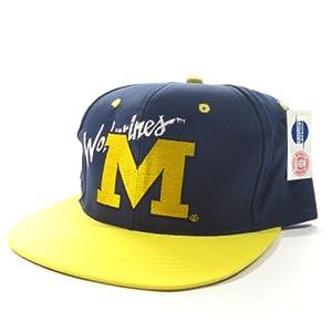 Michigan Wolverines  AJD  NCAA  Vintage Deadstock  Snapback Hat  Cap by Vintage