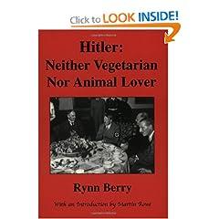 Hitler: Neither Vegetarian Nor Animal Lover