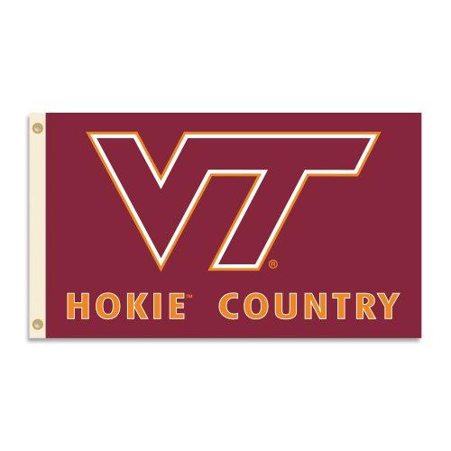 NCAA Virginia Tech Hokies 3 x 5-Feet Country Flag with Grommets