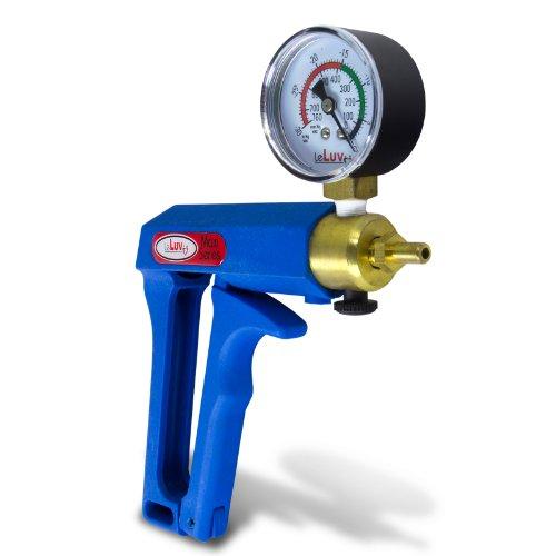41KuHcSvXiL. SL500  Eyro MAXI Blue Pistol Grip Brass Vacuum Pump w/ Gauge