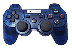 Digital Gaming World's PS3 Wireless Controller For Sony PS3 Console(Transparent Blue Limited Edition), Compatible/Generic.