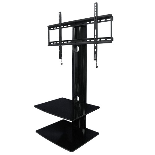 Swiveling Tv Wall Mount With Two Shelves (Shelf)