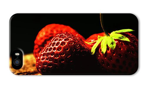 Do It Yourself Diy Iphone 5S Thin Cover Vitamin Rich Fruit Strawberry Close Up Photography Pc 3D For Apple Iphone 5/5S