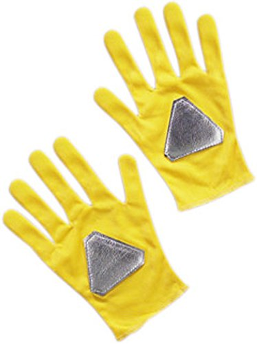 Gloves Yellow Power Ranger Costume Accessory