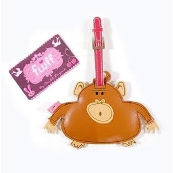 Fluff Animal Luggage Tags - Monkey