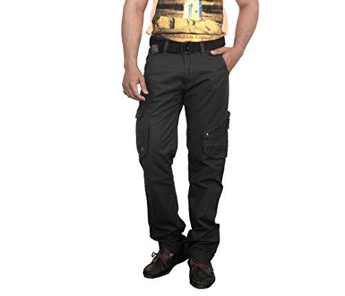 Bodymark Men's Cotton Cargo Pants Black - 32