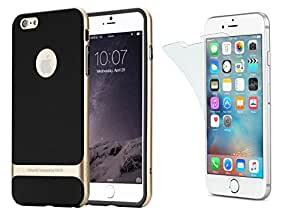 Rock Premium Royce Series Double Layer Back Case Cover and Screen Guard for iphone 5-Golden