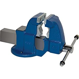 Yost Heavy-Duty Industrial Combination Bench Vise - Stationary Base, 3 1/2in....