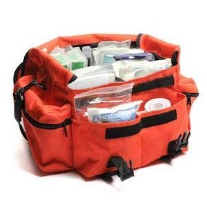 Tactical First Aid Kit: First Responder First Aid Kit Orange Trauma Bag Fully Stocked Best Overall Value from My First Aid Company