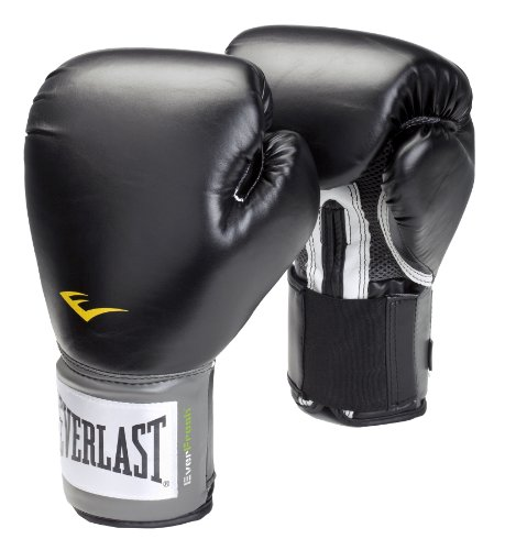 Everlast Velcro Pro Style Boxing Training Gloves - 12oz, Black