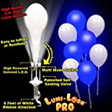 LumiLoons Balloon Lights White Balloons Blue Lights 10 Pack