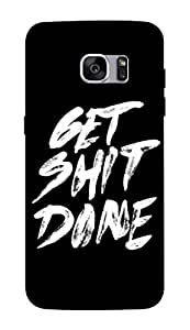 Flauntinstyle motivational Hard Back Case Cover For Samsung Galaxy S7 edge plus