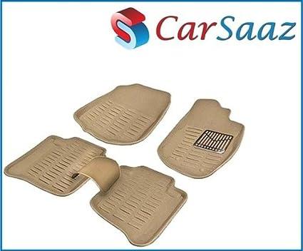 Carsaaz-3D-Beige-Foot-Mats-For-Chevrolet-Tavera-(Set-Of-5-Pcs)