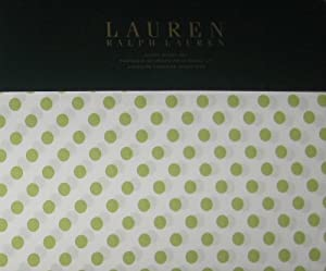 Lauren by Ralph Lauren 4pc Ralph Lauren White with Green Polka Dots Queen Sheet Set at Sears.com
