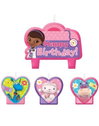 Doc McStuffins Birthday Party Cake Candles - 4ct - 1