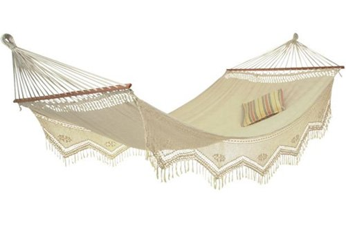 The Amazonas Woven Palacio Swing Hardwood Spreader Bar Hammock