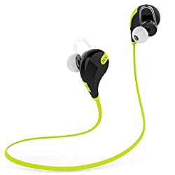 Venstone Bluetooth 4.1 Sport Headphone Wireless Bluetooth Earphone With Mic Bluetooth Sports Earbuds For iPhone 6,6Plus, 5S 5C 5 4S 4, iPods,HTC One,One mini, One mini 2,iPad Mini, Samsung Galaxy Note 3, Note 2, S5 S4, S3, S2,LG Optimus,LG G3,G2,MOTO X,Most Android Smart Phones, Tablets (Black/Green)