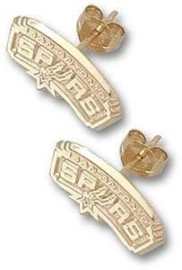 San Antonio Spurs 3 8 Logo Post Earrings - 14KT Gold Jewelry by Logo Art