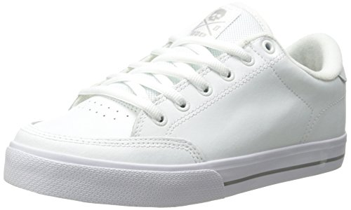 C1RCA Men's AL50 Skate Shoe, White/Gray, 12 M US