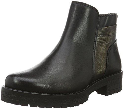 Marc Shoes - Melissa, Stivaletti corti imbottiti Donna, Nero (Schwarz (black-combi 00073)), 42
