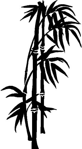 BAMBOO TREE WALL ART STICKERS DECALS HOME DECOR GRAPHICS, BLACK