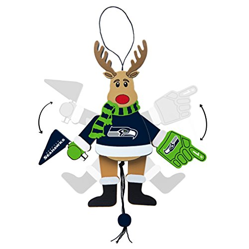 NFL Seattle Seahawks Wooden Cheer Ornament (Nfl Fan Pull compare prices)