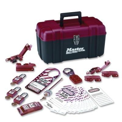 Master Lock 1457E410Ka Electrical Lockout Kit, Portable Safety Carry Case, Rd/Bk