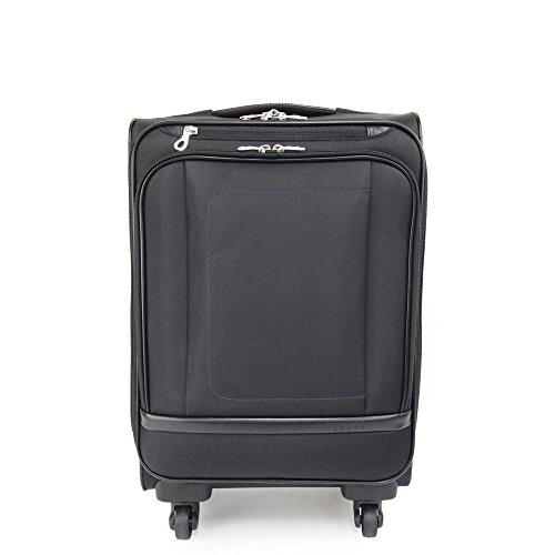 (ピジョール) PUJOLS 4輪トローリーケース/スーツケース/キャリーバッグ 27L レオ 45781 (ブラック(01))