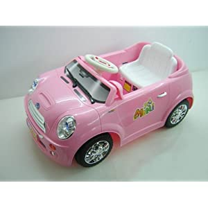 NEW PINK KIDS MINI STYLE RIDE ON BATTERY/ELECTRIC REMOTE CAR