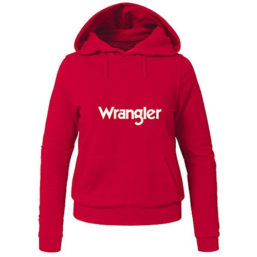 Fashion Wrangler Hoodies - Felpa con cappuccio - Donna Red Small