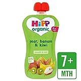 HiPP Orgánica sólo frutas pera, plátano y kiwi bolsa de 100g
