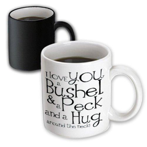 Evadane - Quotes - I Love You A Bushel And A Peck. White And Black. - Mugs - 11Oz Magic Transforming Mug - Mug_193477_3