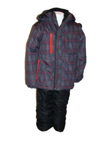 For Sale Boys Toddler Pulse Snowboard Jacket Ski Set, Snowsuit, Blue or Charcoal Grid 2T-4T (2T, Charcoal Grey/Red Grid)  Best Offer