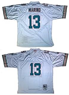 76d16e46a6a mens miami dolphins dan marino mitchell & ness white retired player vintage  replica jersey