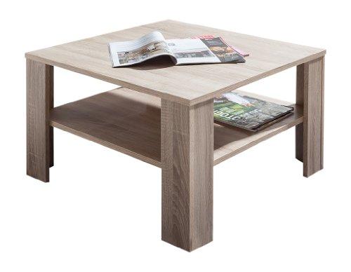Presto Mobilia 11766 Couchtisch Beistelltisch Tisch Kolja 67 x 67 x 44 cm Sonoma Eiche hell