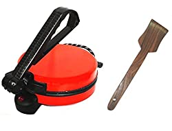 Shahi Roti Maker Red With Wooden Spoon