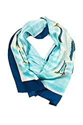 Hand Painted Silk Scarf for Women - The Cranes - Oblong Silk Scarves Rectangle Long Scarf Mothers day gifts presents gift ideas her women wife mom mother daughter son birthday gifts wife presents gift ideas women girlfriend something special me mom fashion dress dressy scarf AS0055-MTC-U