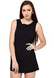 OVIYA Black Cotton Poplin Dress