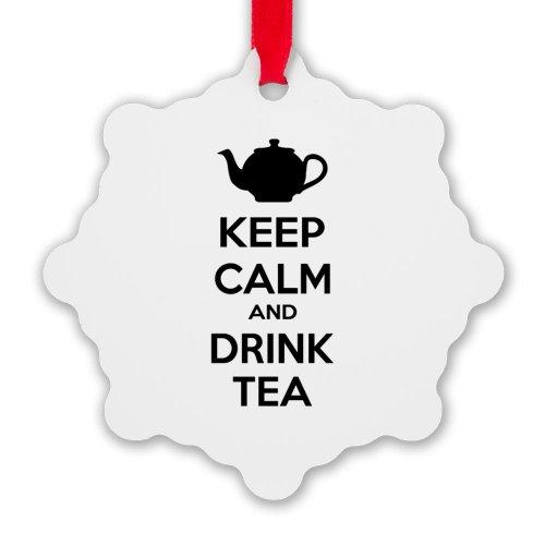 Cafepress Keep Calm And Drink Tea Snowflake Ornament - Standard White