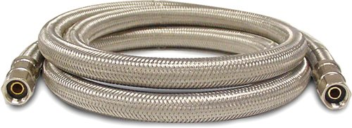 Kissler 88-6084 Braided Ice Maker Line, 1/4-Inch Compression By 1/4-Inch Compression, Stainless Steel front-203555